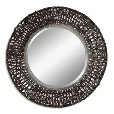 Uttermost 11587 B Alita Woven Metal Wall Mirror