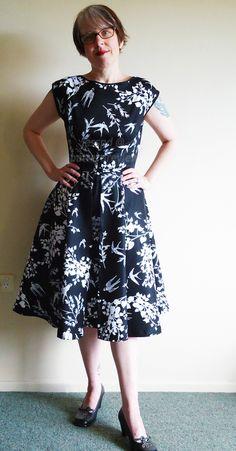 My Butterick 4790 Walkaway Dress in cotton sateen - heycotton.wordpress.com #sewvegan