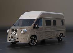 Poznali byste v této žluté dodávce nejnovější Citroën Jumper? Citroen Type H, Citroen H Van, Moto Miniature, Vans Top, Combi Vw, Mini Trucks, Camper Caravan, Camping Car, Bike Design