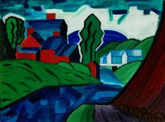 A New Jersey Valley 1918 By Oscar Bluemner