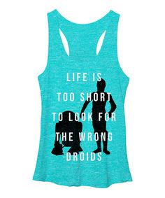 Star Wars 'Too Short to Look for the Wrong Droids' Tank - Women #zulily #zulilyfinds