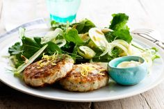 Chicken and tarragon patties with fennel and apple salad Recipe - Taste.com.au Mobile