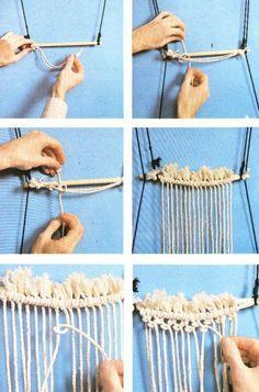 Pueden realizarse con la técnica del macrame  objetos de diferentes tamaños. desde cortinas o hamacas hasta pequeños animales. El tipo de t...