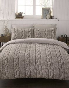 Cozy cable knit bedding