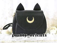 Sailor Moon Sailormoon Luna Black Moon Shoulder Crossbody Bag (Cosplay, Not Leather, kitten, cat)
