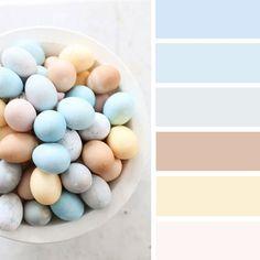 100 Color Inspiration Schemes : Easter Egg Inspired Color Palette , pastel colors #easter #pastel #colorpalette