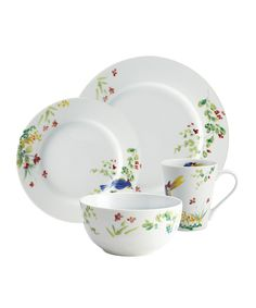 Look at this Spring Medley 16-Piece Dinnerware Set on #zulily today!  sc 1 st  Pinterest & Rectangular Dinnerware Sets | Wayfair | My Holiday Dream Kitchen ...