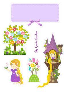 Bolo Rapunzel, Disney Rapunzel, Scrapbook Stickers, Scrapbook Paper, School Board Decoration, Preschool Songs, Silhouette Projects, Princesas Disney, Paper Piecing