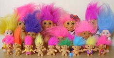 250 Packs Troll Dolls Mini Party Favor KIds Toy Hobbyists Collectable Dolls