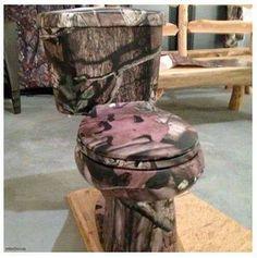 Mossy Oak Camo Toilet