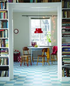 rutigt golv Teak Furniture, My Dream Home, Home And Family, Sweet Home, House Design, Flooring, Living Room, Interior Design, House Styles