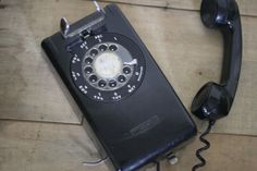 vintage black wall phone by suesuegonzalas on Etsy, $28.00