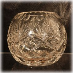 Considered to be some of the finest hand cut crystal in the world, the lead crystal rose bowl is a stunner. Made in the German Democratic