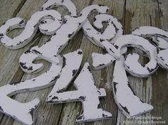Vintage WEDDING TABLE NUMBERS, Distressed Table Numbers, Wooden Cut Out Table Numbers, Shabby Chic Table Numbers, Beach Wedding