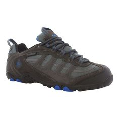 Hi - Tec Penrith Low Waterproof Shoe Waterproof Suede and Mesh upper Ghillie lacing system creates a secure fit Moisture-wicking lining keeps the foot dry.