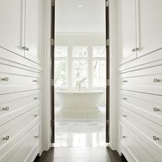 Walk through Closet - Transitional - closet - Kristen Panitch ...