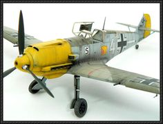 WWII Messerschmitt Bf 109E Fighter Free Aircraft Paper Model Download