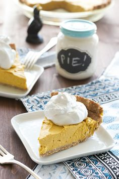 Sugar-free, Dairy-free, Oil-free Pumpkin Coconut Pie by An Unrefined Vegan.