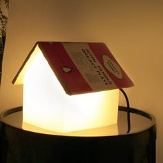 Book Rest Reading Lamp. Rest your book on the lamp to make a lovely roof and use the light to bring a look of warmth into your space. $80.00