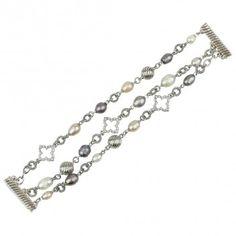 Pearl Clover Motif Bracelet