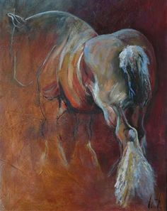 """Horses """"Willem""""  Oil painting by Cath Driessen """"Stops"""" 80 x 120 www.cathdriessen.nl/ https://www.facebook.com/pages/Cath/447137662037857"""