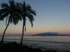 View of Lana'i,  Maui, Hi
