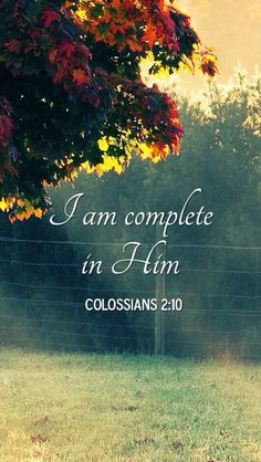 I am complete in Jesus Christ - Colossians Walk By Faith, Faith In God, Bible Verses Quotes, Bible Scriptures, Jesus Quotes, Healing Scriptures, Christian Life, Christian Quotes, Christian Living