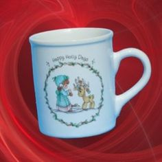 Precious Moments Happy Holly Days Mug Reindeer Xmas WOW | eBay