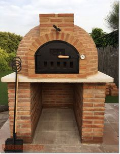 Barbecue Design 2020 – How long do you let charcoal burn before cooking? - Home Ideas Diy Pizza Oven, Pizza Oven Outdoor, Pizza Ovens, Barbecue Garden, Backyard Bbq, Parrilla Exterior, Barbecue Design, Brick Bbq, Four A Pizza