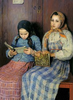 Schoolgirls -- Nikolay Bogdanov-Belsky
