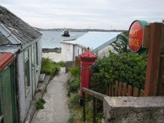 'IONA POST' -     JULIE MCLEOD    ISLE OF IONA.  Have been on this very spot!  Loved Iona
