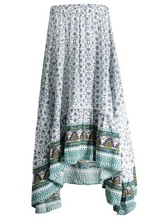 SHARE & Get it FREE | Patterned High Low Maxi Boho Skirt - WhiteFor Fashion Lovers only:80,000+ Items • New Arrivals Daily Join Zaful: Get YOUR $50 NOW!
