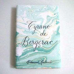 Cyrano de Bergerac vintage recovered book - Neapolitan on Etsy Shaving Cream Painting, Binding Covers, Art Nouveau, Typo Logo, Typography, Calligraphy Ink, Paper Ribbon, Notebook Design, Inspirational Books