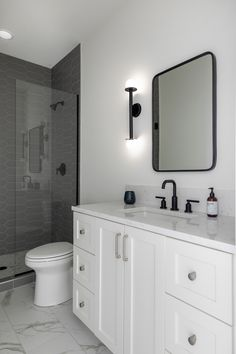 Black White Bathrooms, Bathroom Trends, Modern Exterior, Double Vanity, Custom Homes, Black And White, Design, Little Cottages, Black White
