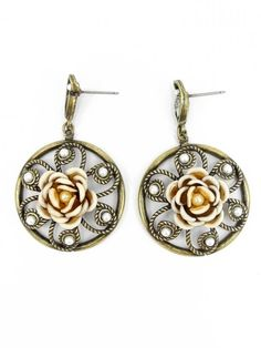 Heirloom Rose Pinwheel Earrings - $32.00 : FashionCupcake, Designer Clothing, Accessories, and Gifts
