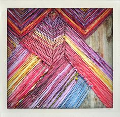 Made from strips of old T-shirts? Awesome! #Anthropologie #PalmSprings
