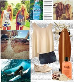 """""""summer days"""" by surferstyle118 ❤ liked on Polyvore"""