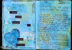 Suzy of Sea Glass & Sand used some of the number-themed Plundered Pages as a backdrop to her journal pages.