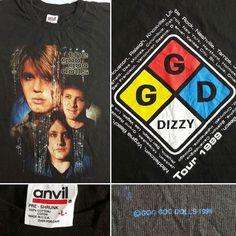Goo goo dolls 1999 Dizzy Dead stock Concert Tour T-Shirt  #vintage #90s #googoodolls #dizzy #1999 #concert #tour #tshirt #tshirts #pop #rock #deadstock