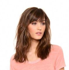 Mid length hair with bangs, shoulder length hair, lob hairstyles, Lob Hairstyle, Box Braids Hairstyles, Hairstyles Haircuts, Mid Length Hair With Bangs, Shoulder Length Hair, Hair Color And Cut, Cool Hair Color, Medium Hair Styles, Short Hair Styles