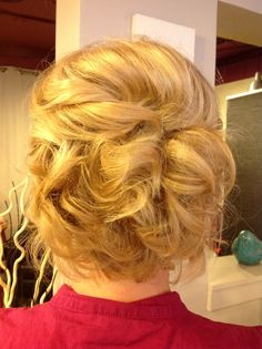 Short hair wedding updo