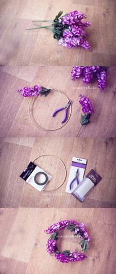 DIY: Whimsical Flower Crown Tutorial by Scarlett & Hunter Photography on Whim Online Magazine