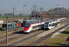 501 002 SBB RABe 501 at Etzwilen, Switzerland by Richard Behrbohm Swiss Railways, Rabe, Switzerland, Trains, Electric, The Unit, Train