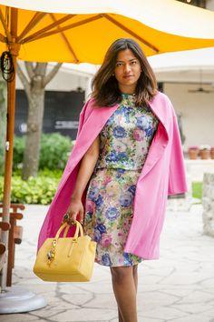 Miami Fashion Blogger Chic Stylista wearing Purificacion Garcia