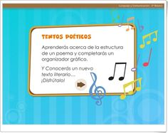 """Textos poéticos"" (Literatura de Educación Primaria) Language, Texts, Text Types, Interactive Activities, Primary Education, Spanish Language, Teaching Resources, March, Languages"