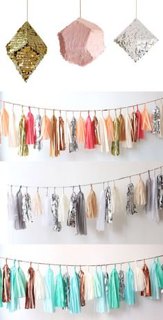Gorgeous garlands - did you know they cost $130 ! Whats that in £GBP? Still too much!