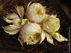 Brooch handmade. Fair Masters - handmade silk flowers. Brooch hairpin Lady Di. Silk .. Handmade.