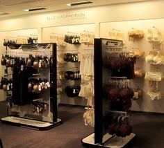 Lingerie Store Design, Elle Macpherson Intimates, Butterflies Flying, Retail Experience, Retail Design, Liquor Cabinet, Boutique, The Originals, Hanger