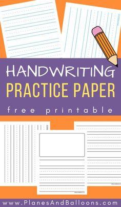 Handwriting Practice Free, Free Printable Handwriting Worksheets, Kindergarten Handwriting, Teaching Handwriting, Handwriting Activities, Free Kindergarten Worksheets, Preschool Writing, Kindergarten Lesson Plans, Preschool Alphabet