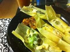 Fun ways to fill tamales! It's like a surprise when you unwrap each one!